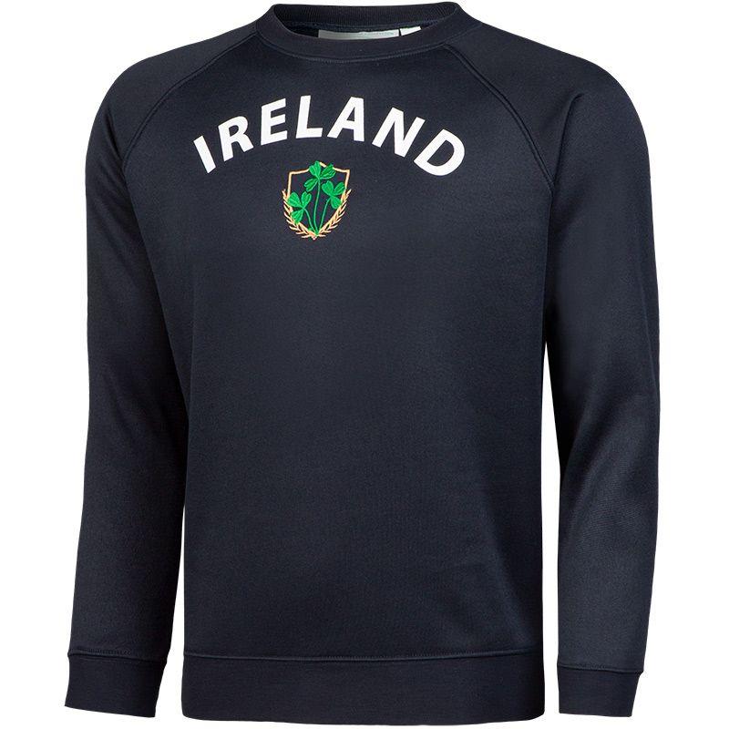 Lansdowne Ireland Kids' Shamrock Crew Neck Sweatshirt Navy