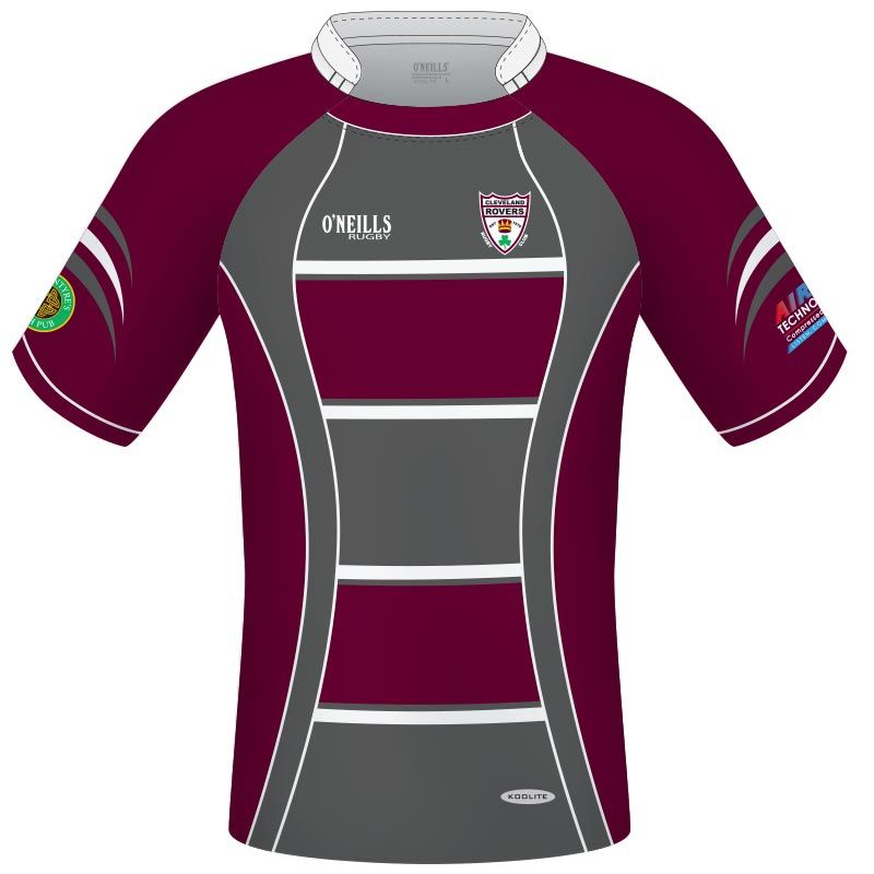 Cleveland Rovers RFC Rugby Jersey (Maroon/Grey)
