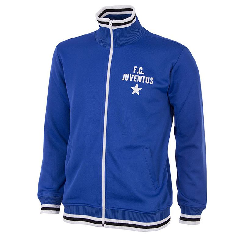 Blue Copa Juventus FC Men's Retro Football Jacket with full zip from O'Neills.