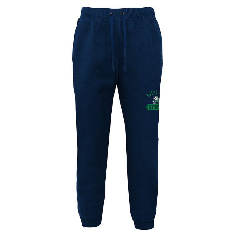 Navy Notre Dame Fighting Irish fleece loungewear jogger bottoms from O'Neills.