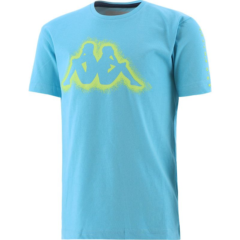 blue Kappa Kids' tshirt with short sleeves and a round neck from O'Neills