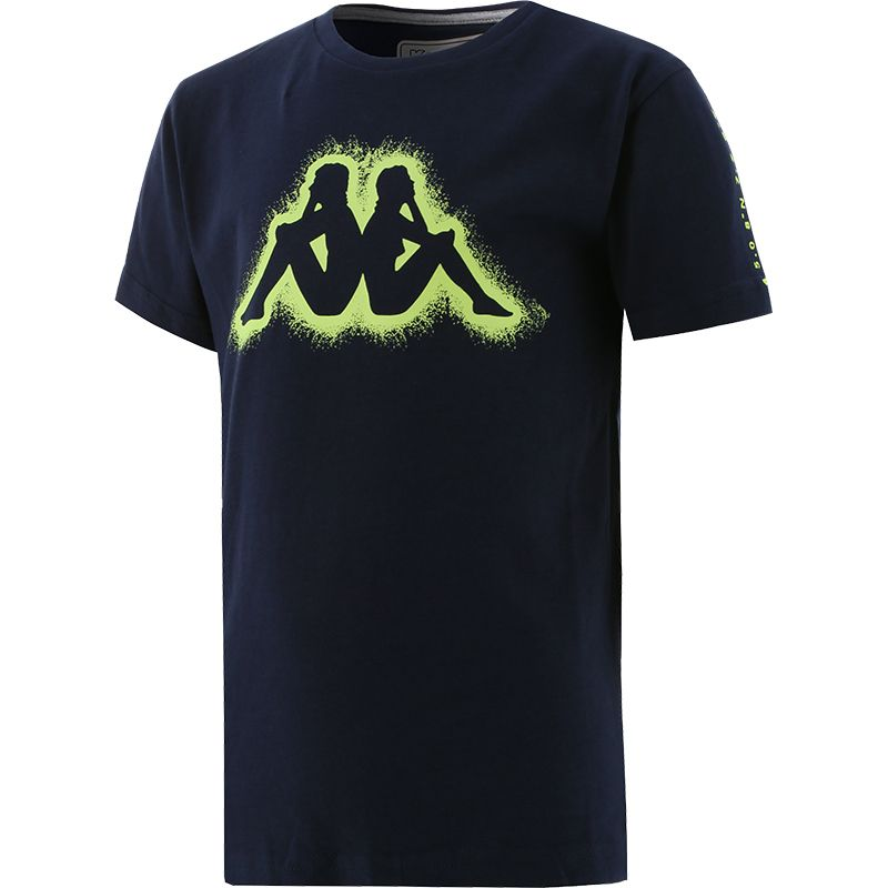 navy Kappa Kids' tshirt with short sleeves and a round neck from O'Neills