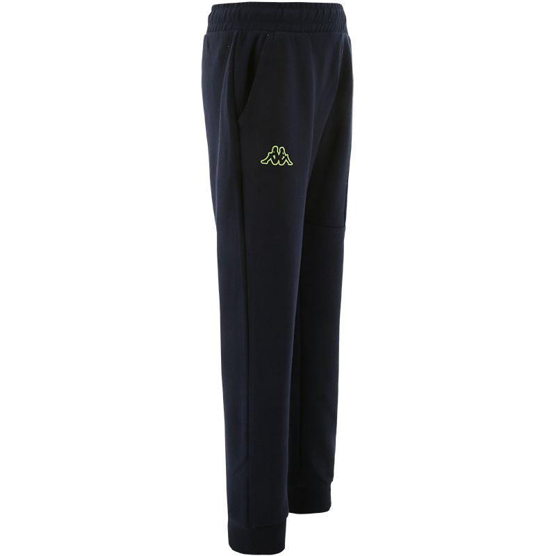 navy Kappa Kids' cotton bottoms with a drawstring belt from O'Neills