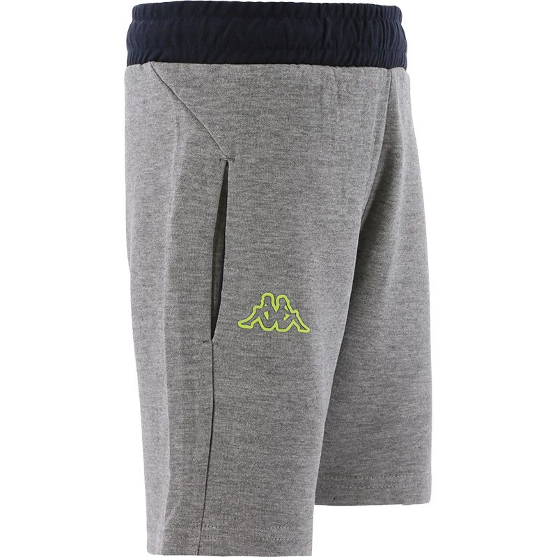 grey Kappa Kids' shorts with two outer pockets from O'Neills