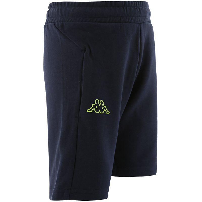 navy Kappa Kids' shorts with two outer pockets from O'Neills