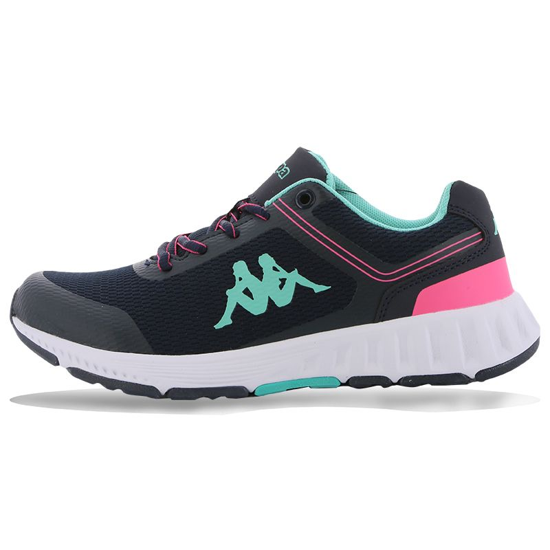 Navy and Pink Kappa Kids' trainers with lace up closure from O'Neills.