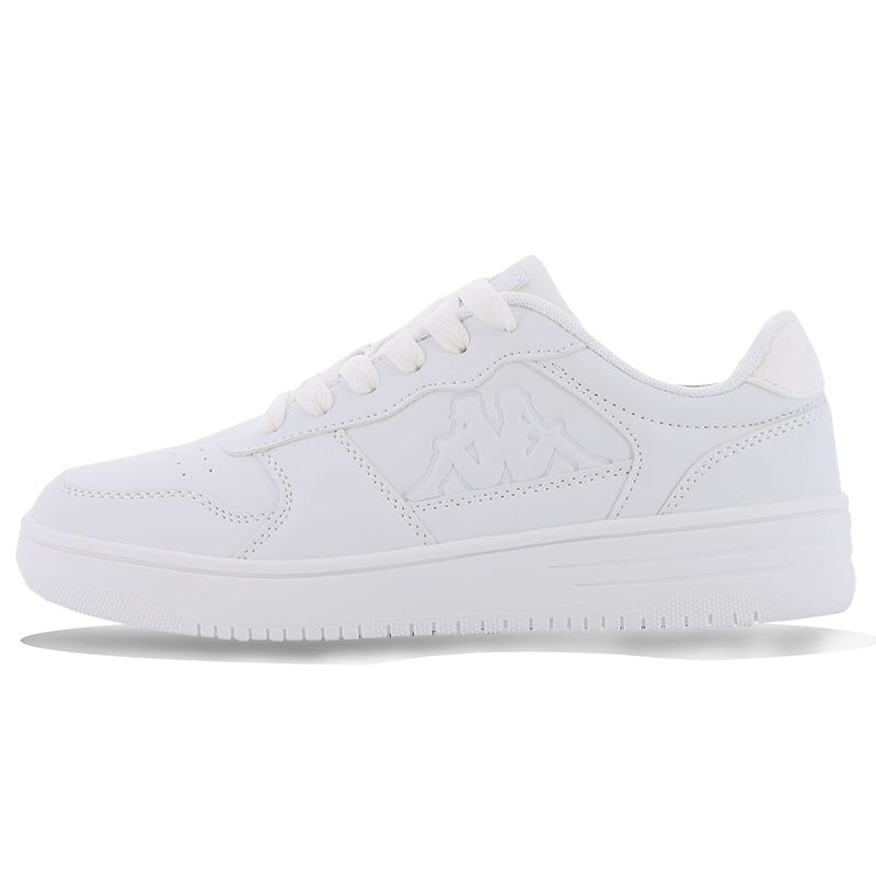 White Kappa Kids' Trainers with lace up closure from O'Neills.