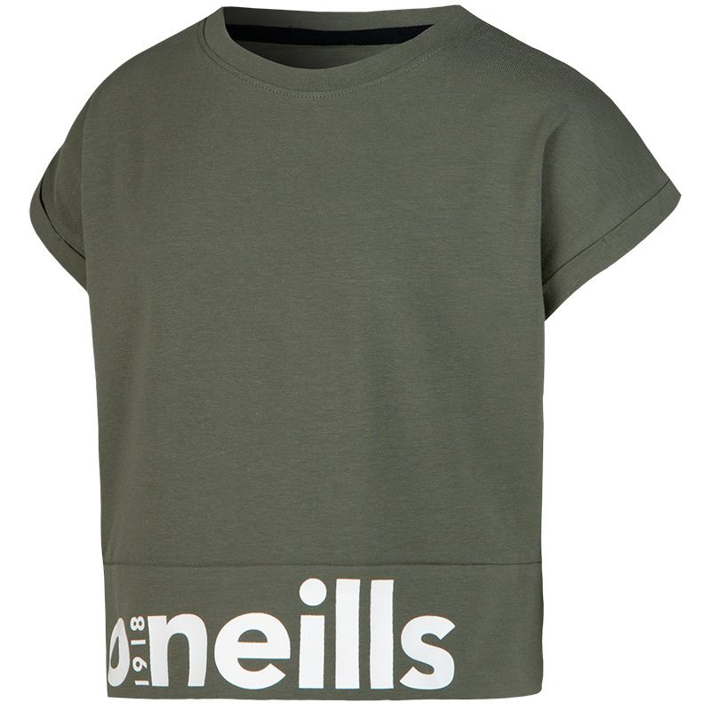 Kids' Kendall Cotton Crop T-Shirt Green / White