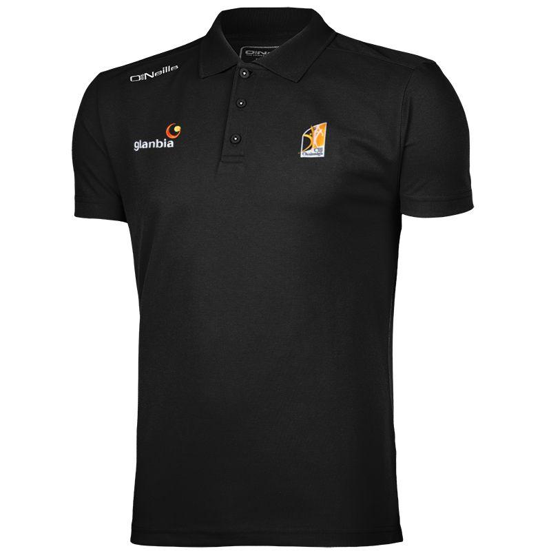 Kilkenny GAA Men's Pique Cotton Polo Black