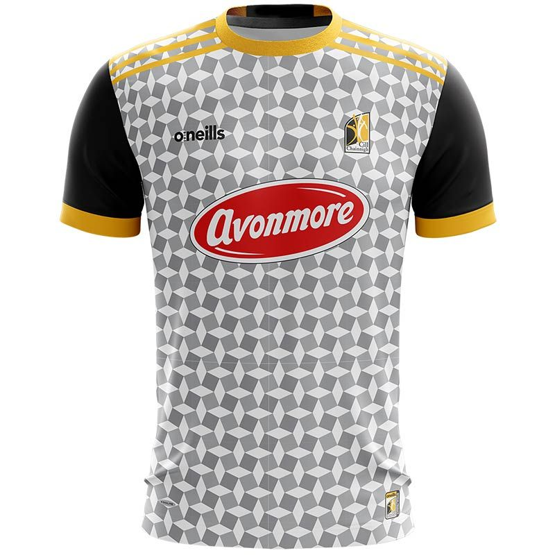 Kilkenny GAA Short Sleeve Training Top Grey / Black / Amber