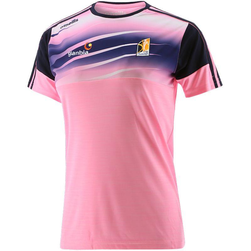 Kilkenny GAA Kids' Portland T-Shirt Pink / Marine / White