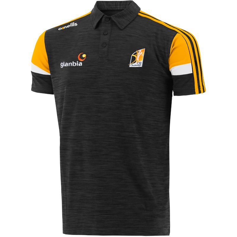 Kilkenny GAA Men's Portland Polo Shirt Black / Amber / White