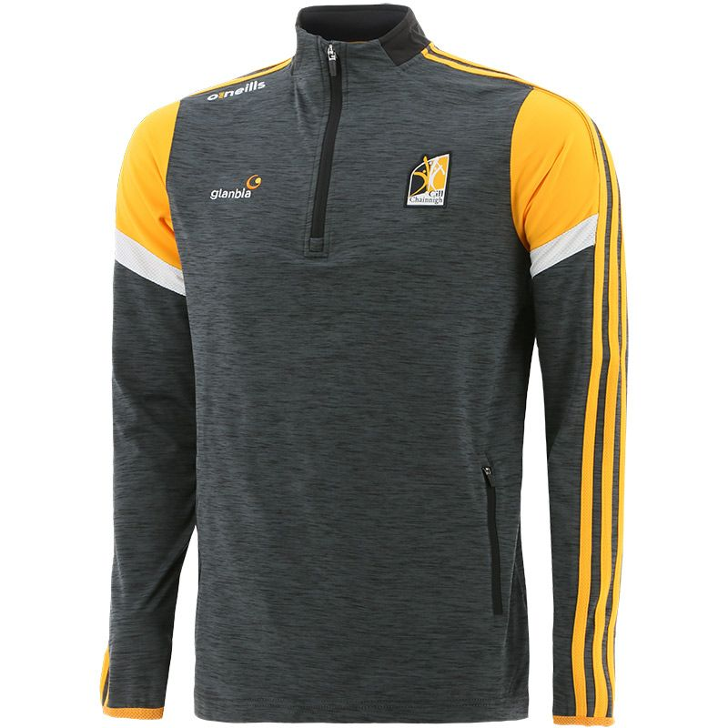 Kilkenny GAA Men's Portland Brushed Half Zip Top Black / Amber / White