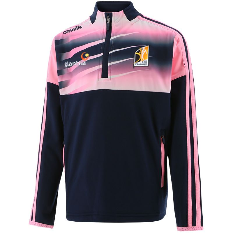 Kilkenny GAA Kids' Portland Brushed Half Zip Top Marine / Pink