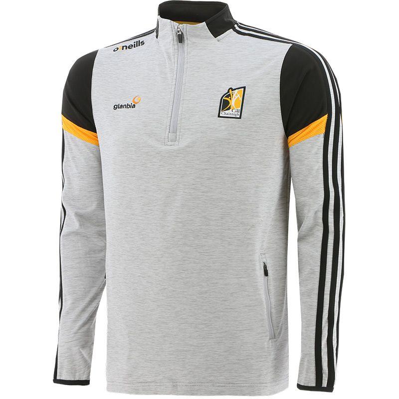Kilkenny GAA Men's Portland Brushed Half Zip Top Silver / Black / Amber
