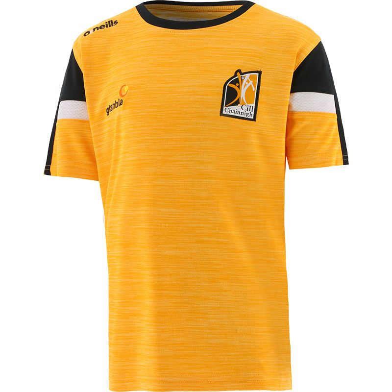 Kilkenny GAA Kids' Portland T-Shirt Amber / Black / White
