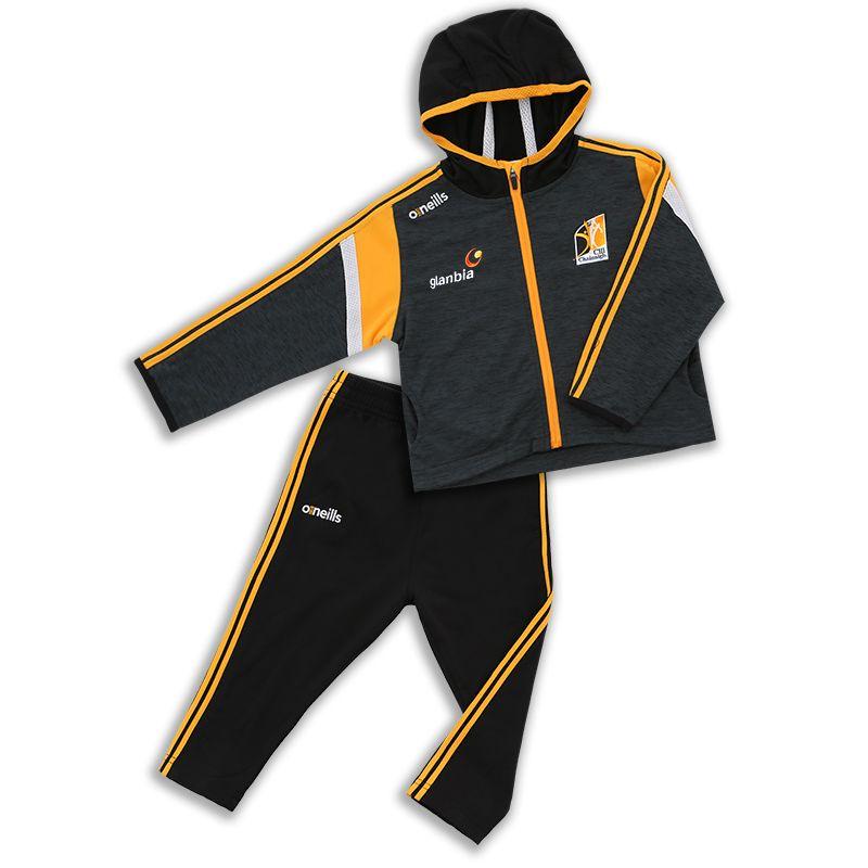 Kilkenny GAA Kids' Portland Brushed Full Zip Infant Suit Black / Amber / White