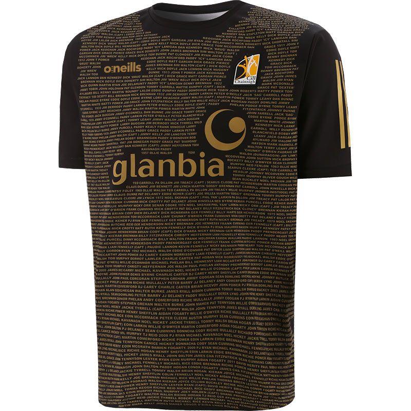 Kilkenny GAA Player Fit Short Sleeve Training Top Black / Gold