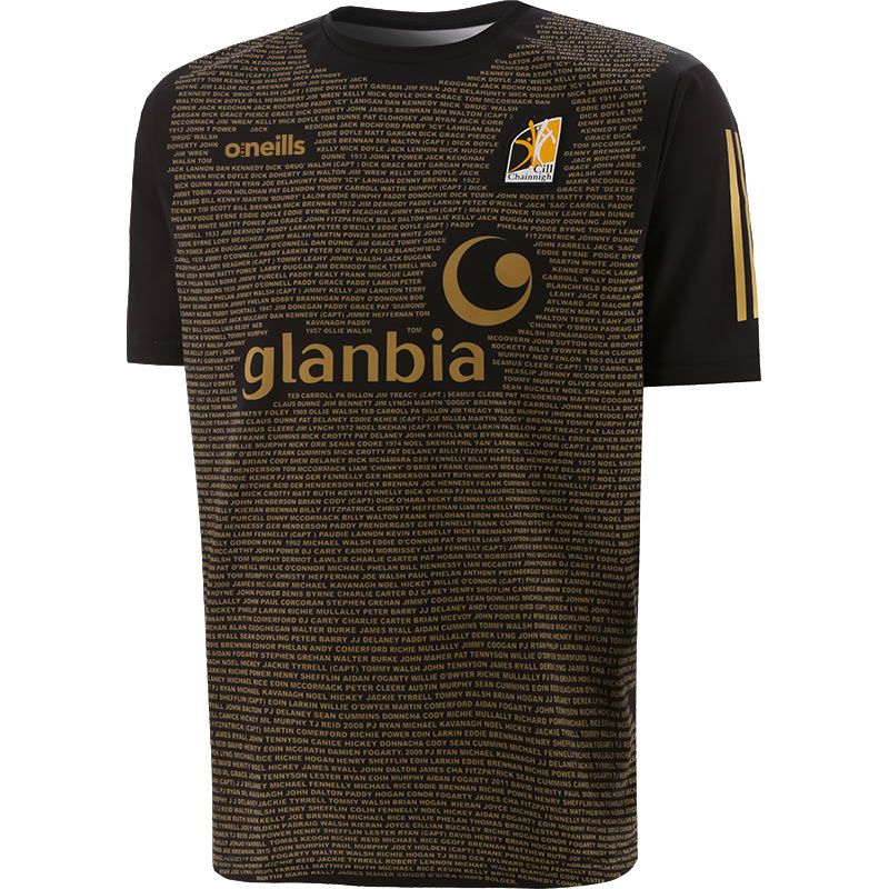 Kilkenny GAA Kids' Short Sleeve Training Top Black / Gold