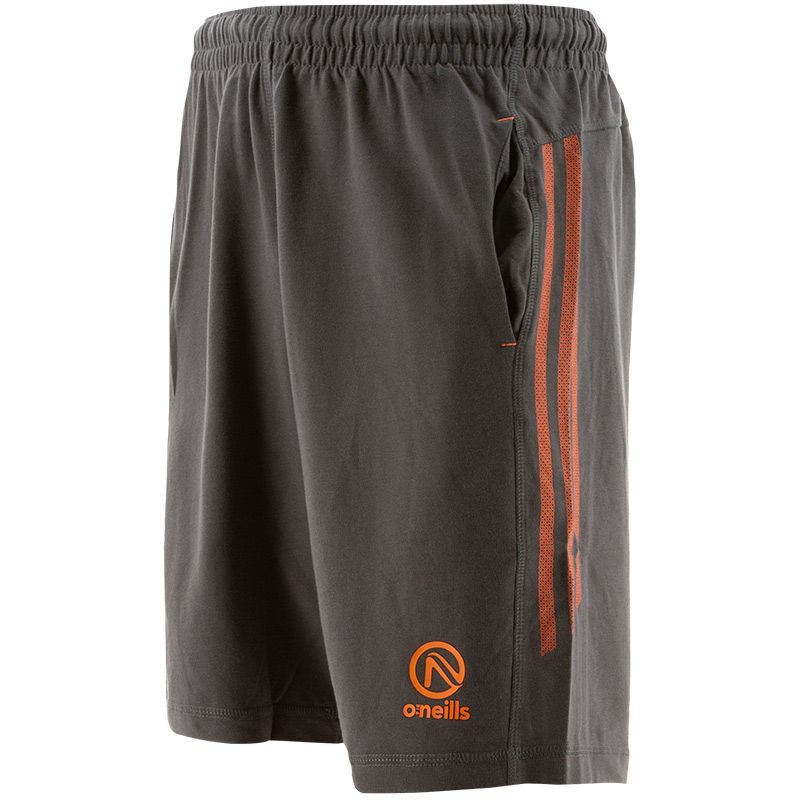 Kids' Kingston French Terry Leisure Shorts Dark Grey / Orange