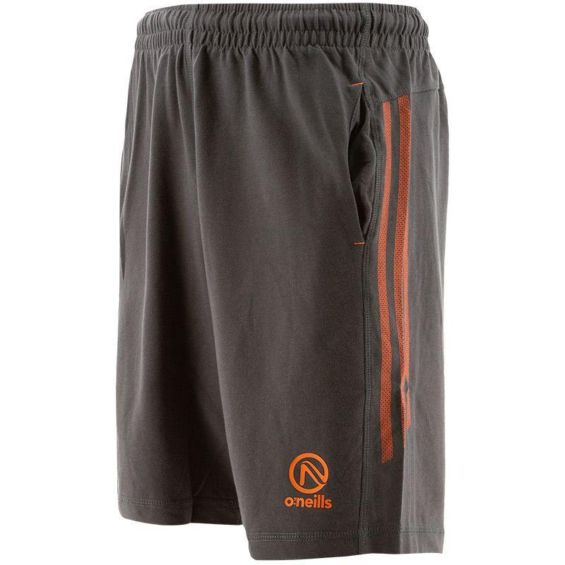 Men's Kingston French Terry Leisure Shorts Dark Grey / Orange