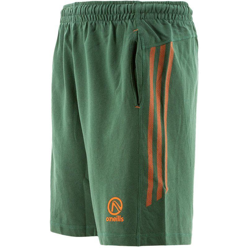 Men's Kingston French Terry Leisure Shorts Green / Orange