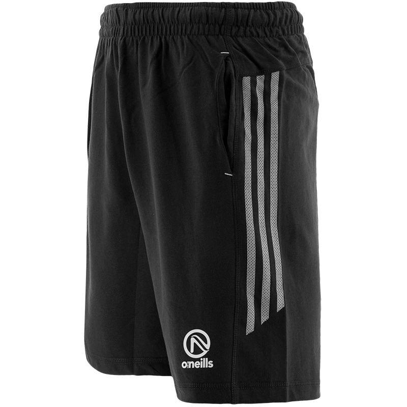 Men's Kingston French Terry Leisure Shorts Black / White
