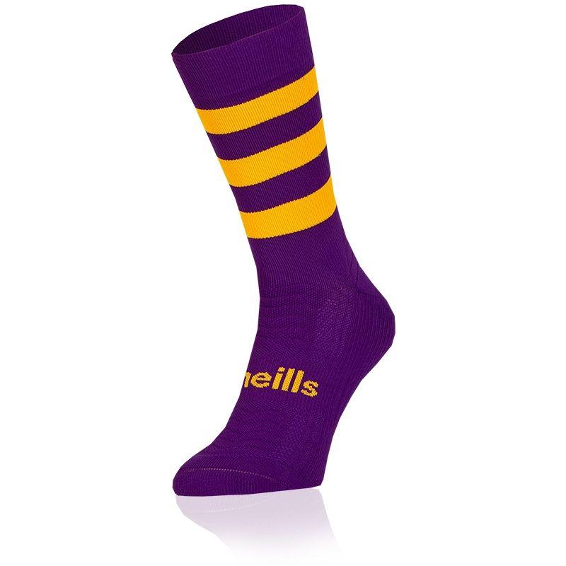 Kids' Koolite Pro Midi Hoop Socks Purple / Amber