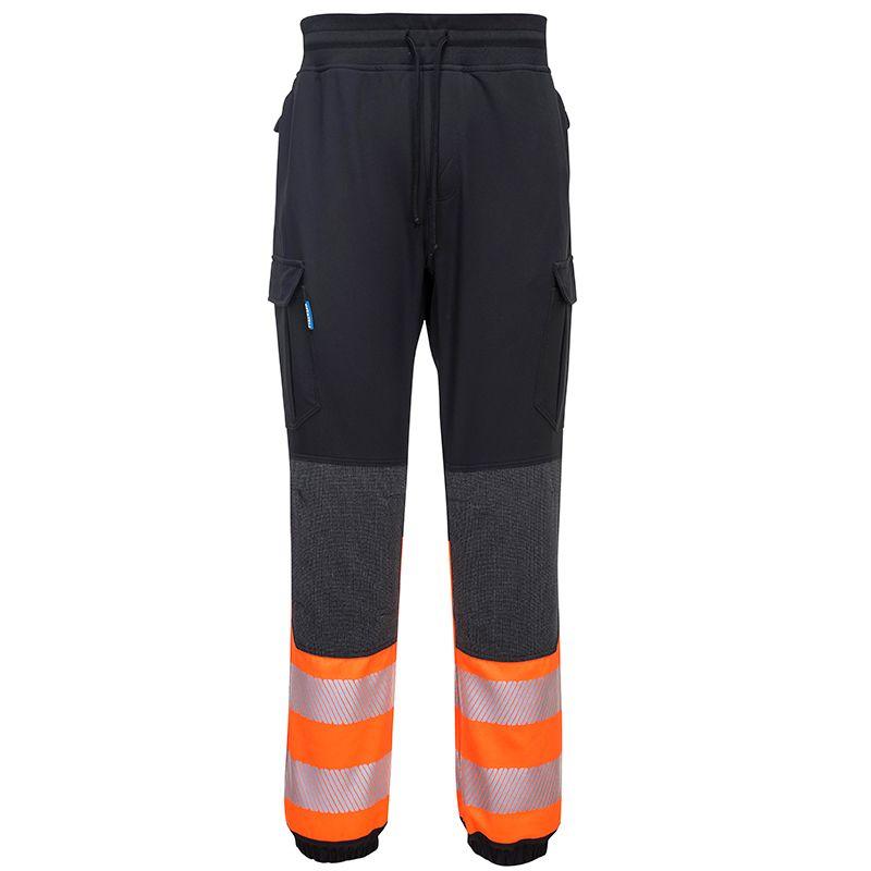 Portwest Men's KX3 Hi-Vis Flexi Trousers Black / Orange