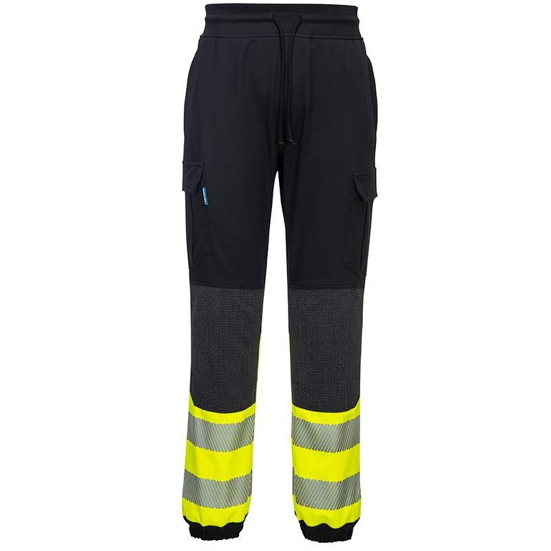 Portwest Men's KX3 Hi-Vis Flexi Trouser Black / Yellow