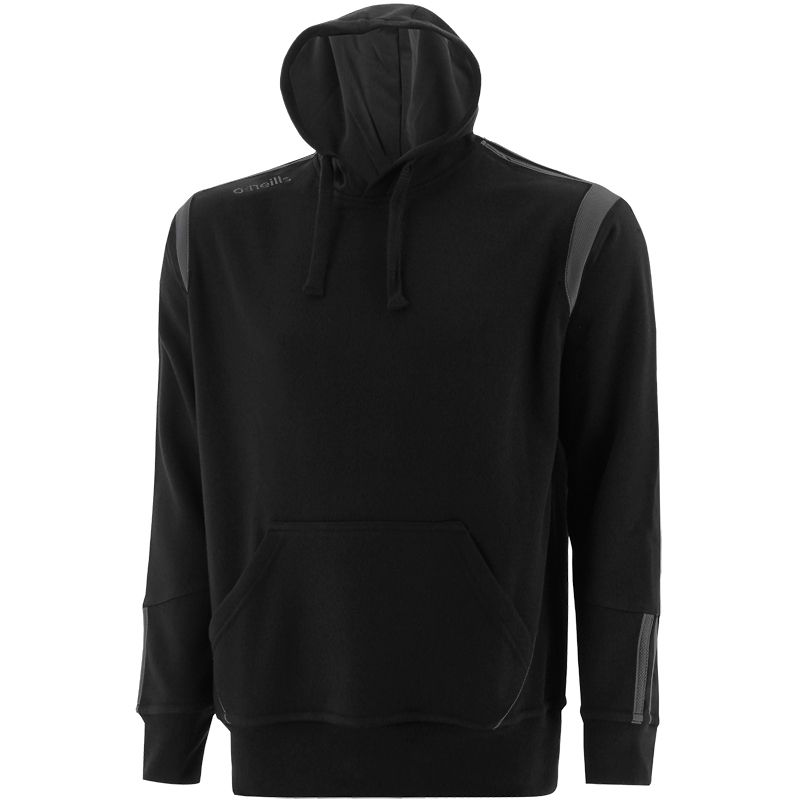 Black and grey men's hoodie with front pouch pocket by O'Neills.