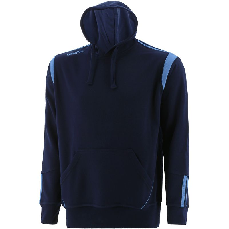 Navy and blue men's overhead hoodie with front pouch pocket by O'Neills.