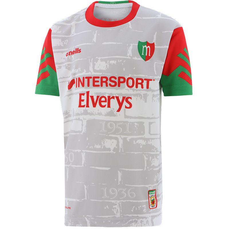 Mayo GAA Kids' Short Sleeve Training Top White / Red / Green