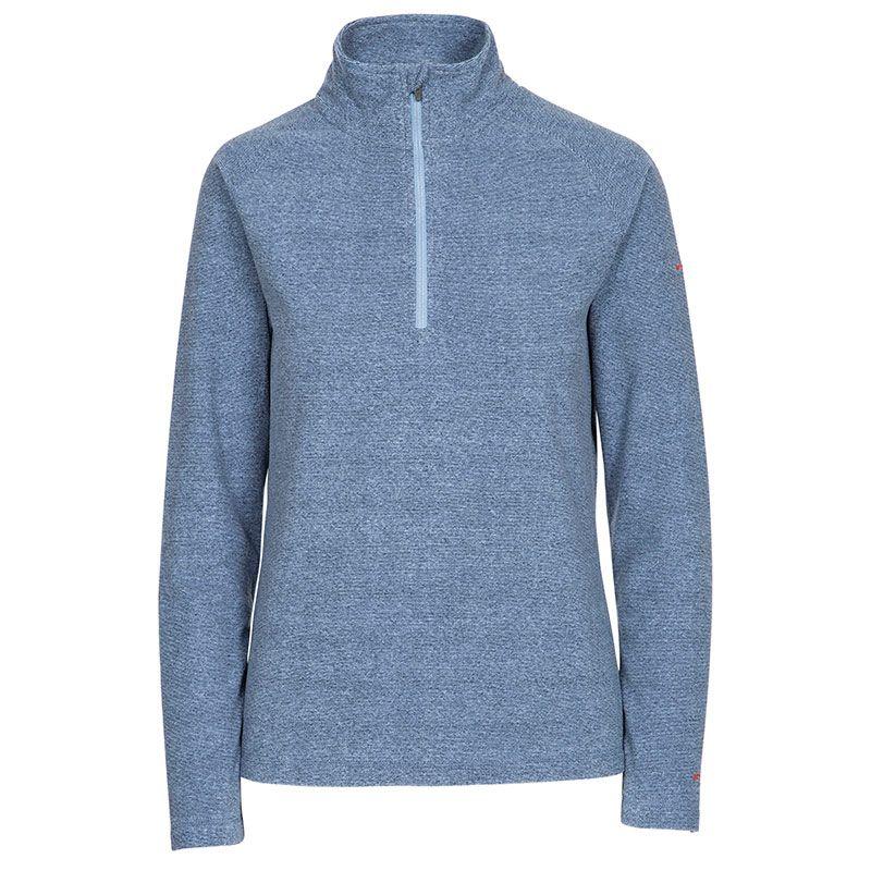 Blue Trespass women's fleece with half zip opening from O'Neills.