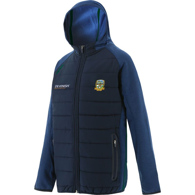 Meath GAA Kids' Portland Light Weight Padded Jacket Marine / Bottle