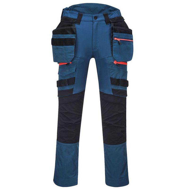 Portwest Men's DX4 Detachable Holster Pocket Trousers Metro Blue