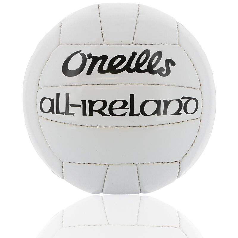 White official GAA midi football with O'Neills and All Ireland branding from oneills.com