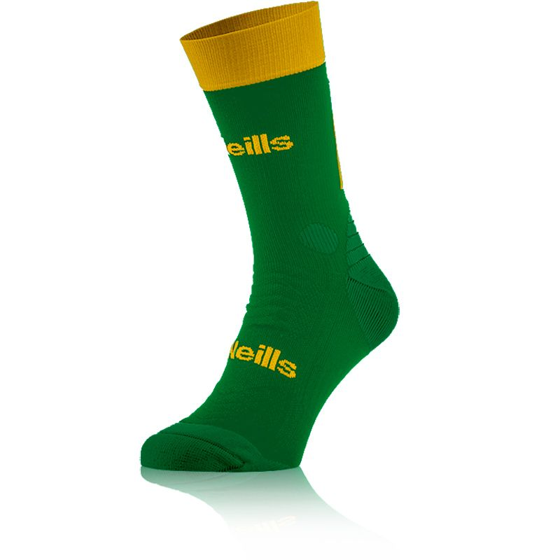 Kids' Koolite Pro Midi Socks Green / Amber
