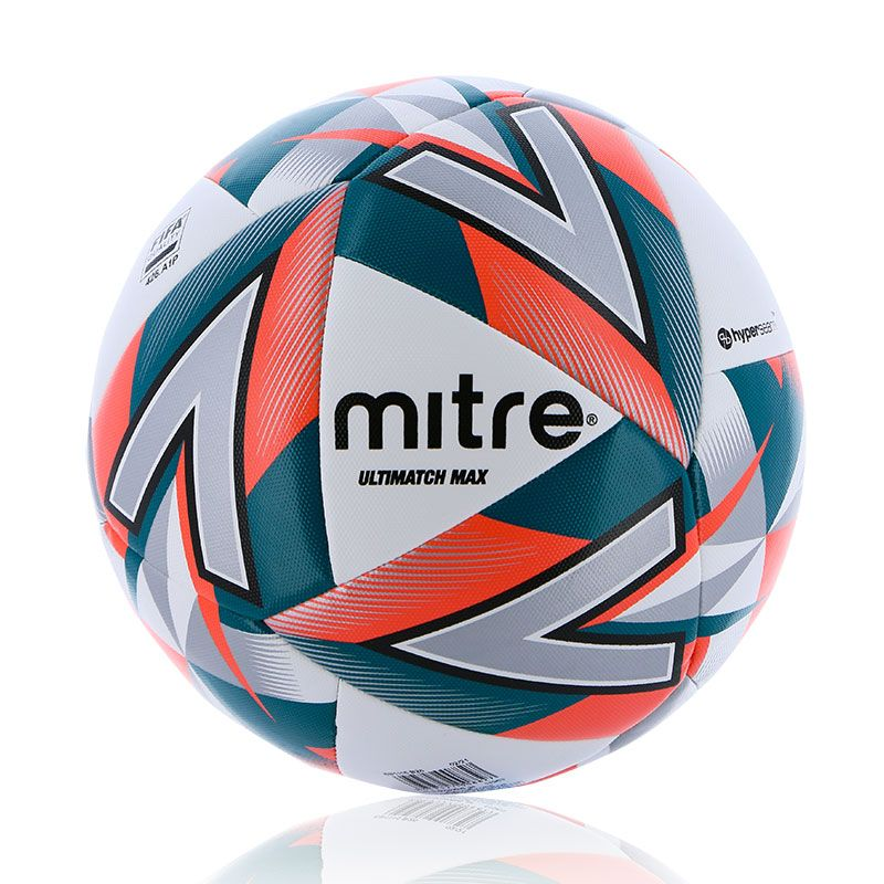 white, orange, green and black Mitre size 5 match football from O'Neills