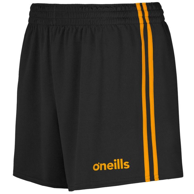 Mourne 2 Stripe Shorts Black / Amber