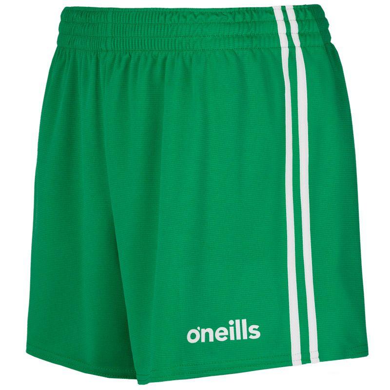 Mourne 2 Stripe Shorts Green / White