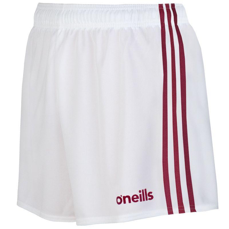 Mourne Shorts White / Maroon