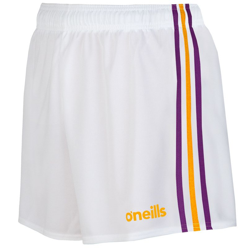 Kids' Mourne Shorts White / Purple / Amber
