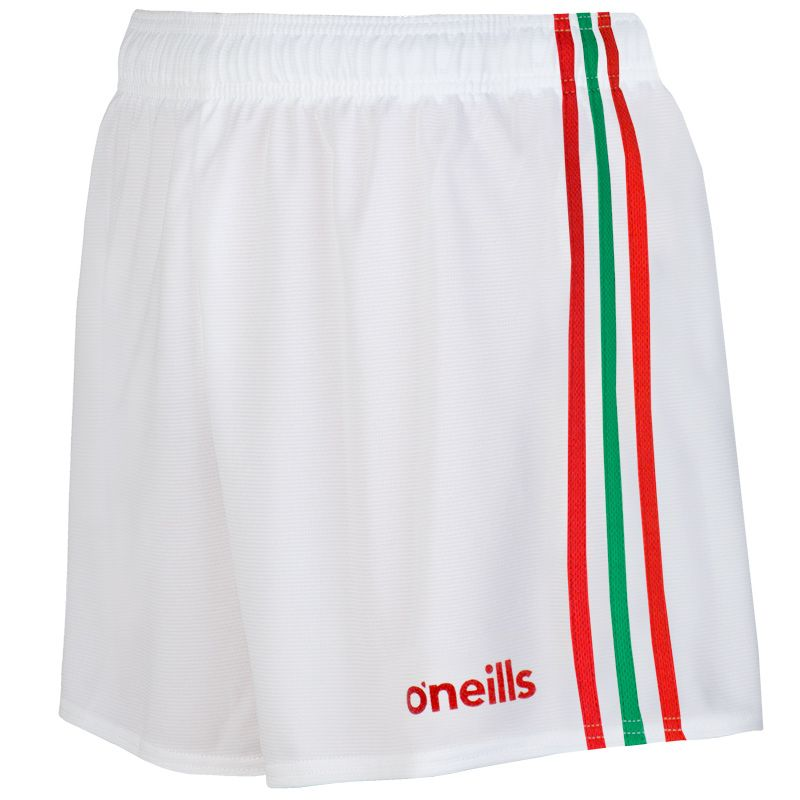 Mourne Shorts White / Red / Green