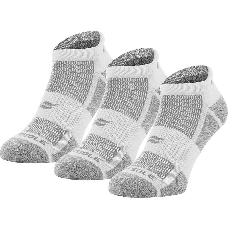 Sof Sole Women's Multi-Sport Cushion 3 Pack Socks Marl White