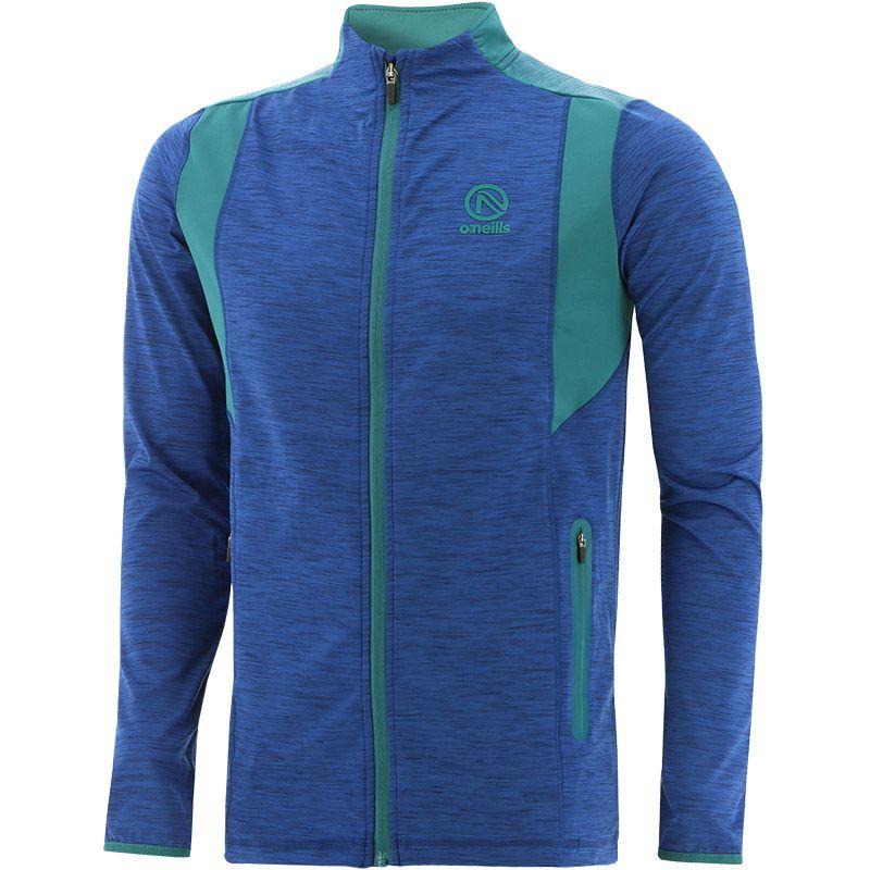 Men's Neptune Brushed Full Zip Top Blue / Green