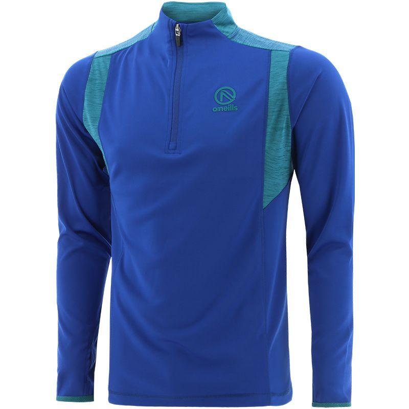 Men's Neptune Midlayer Half Zip Top Blue / Green