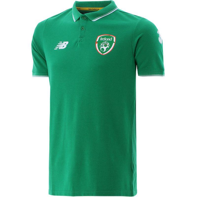 New Balance Republic of Ireland 20/21 Men's Base Polo Jolly Green ...