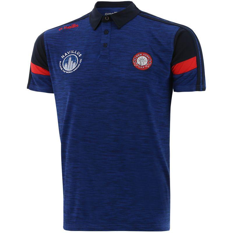 New York GAA Men's Portland Polo Shirt Blue / Marine / Red