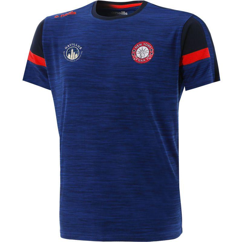 New York GAA Men's Portland T-Shirt Blue / Marine / Red